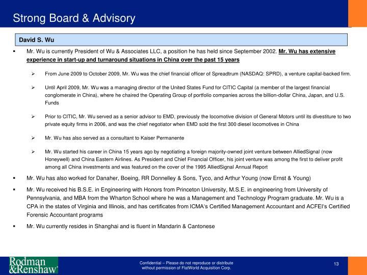 Strong Board & Advisory