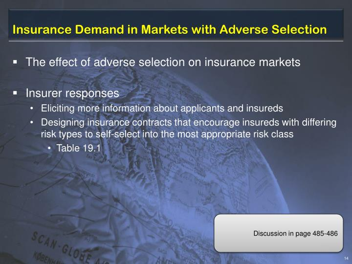Insurance Demand in Markets with Adverse Selection