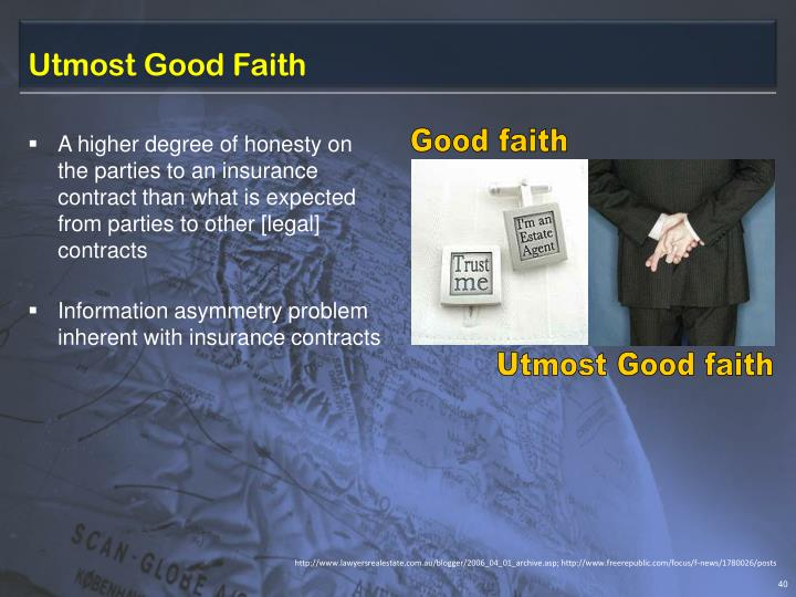 Utmost Good Faith