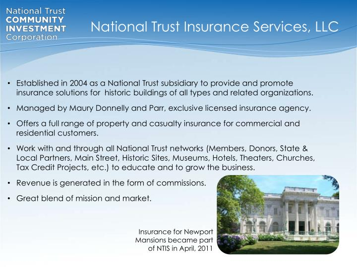 National Trust Insurance Services, LLC