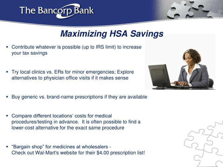 Maximizing HSA Savings