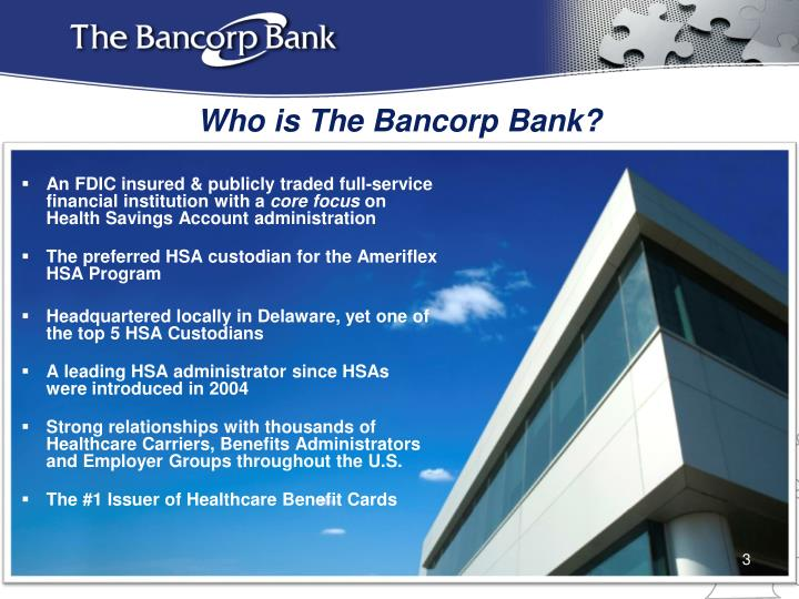 Who is The Bancorp Bank?