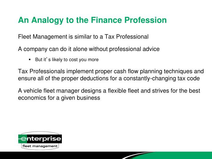 An Analogy to the Finance Profession