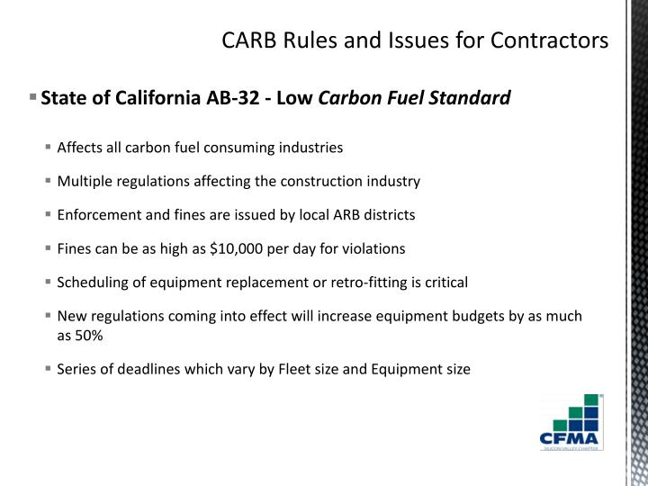 State of California AB-32 - Low