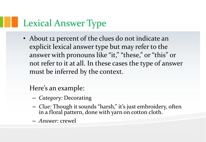 Lexical Answer Type