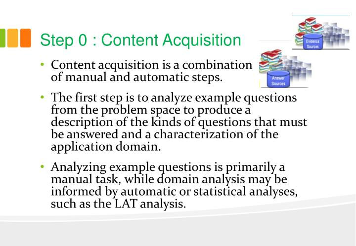 Step 0 : Content Acquisition