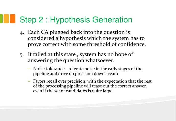 Step 2 : Hypothesis Generation