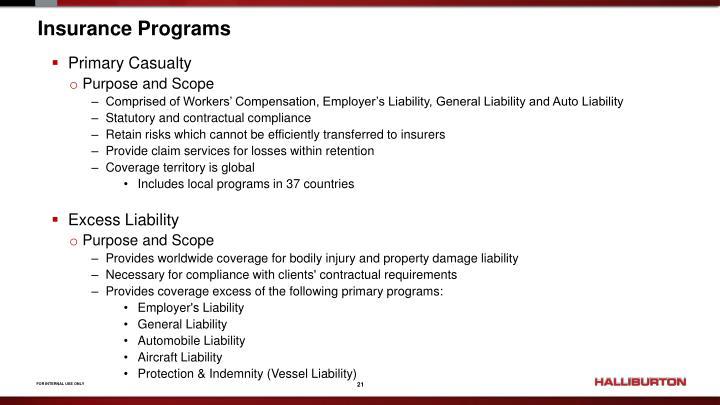 Insurance Programs