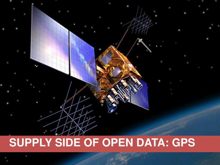 SUPPLY SIDE OF OPEN DATA: GPS