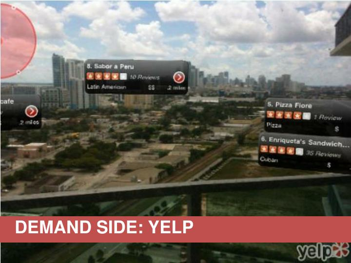 DEMAND SIDE: YELP