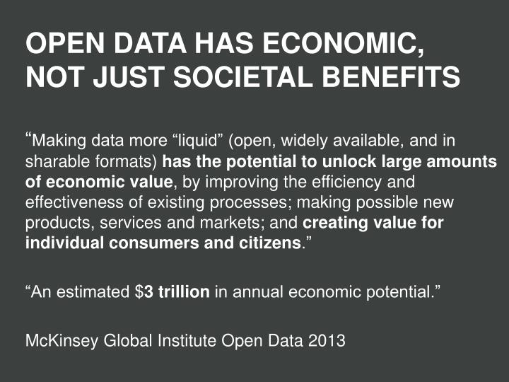 OPEN DATA HAS ECONOMIC,