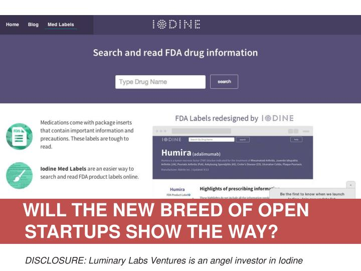 WILL THE NEW BREED OF OPEN STARTUPS SHOW THE WAY?