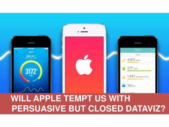 WILL APPLE TEMPT US WITH PERSUASIVE BUT CLOSED DATAVIZ?