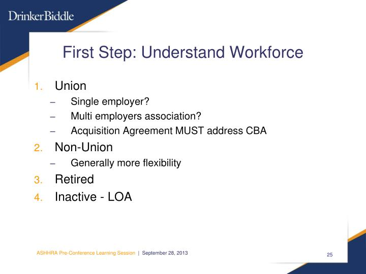 First Step: Understand Workforce