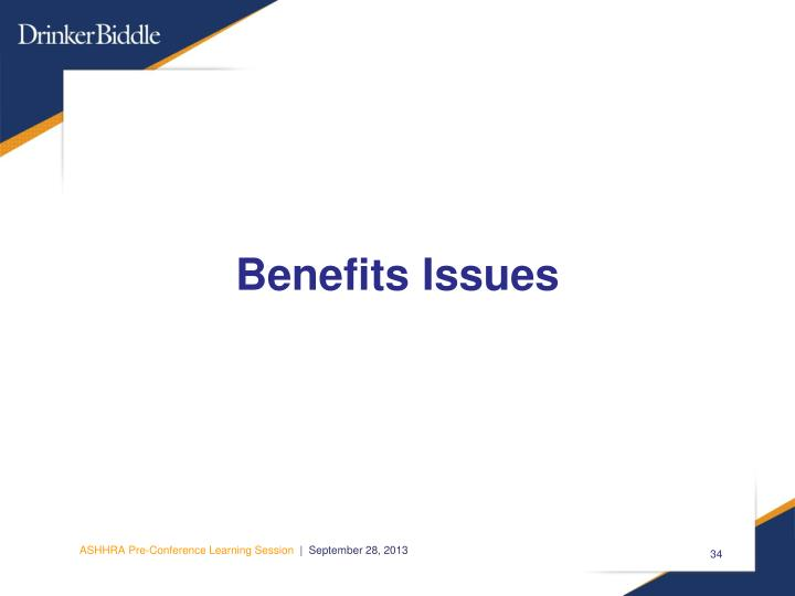 Benefits Issues