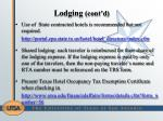 lodging cont d