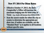 new fy 2014 per diem rates