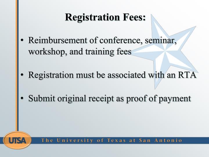 Registration Fees: