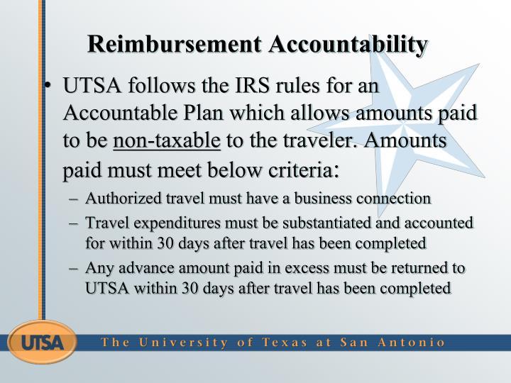 Reimbursement Accountability