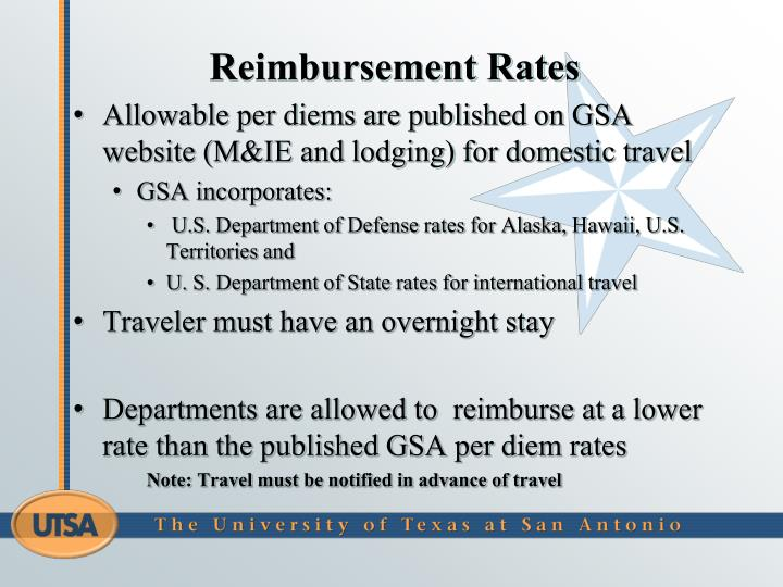 Reimbursement Rates
