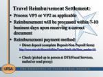 travel reimbursement settlement