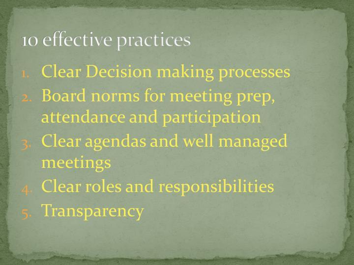 10 effective practices
