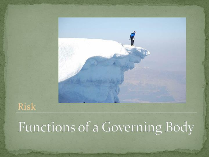 Functions of a Governing Body