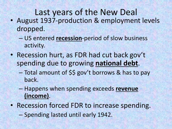 Last years of the New Deal