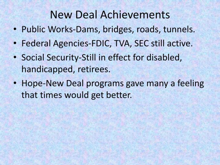 New Deal Achievements