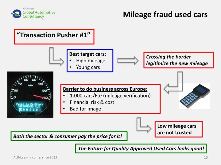 Mileage fraud used cars