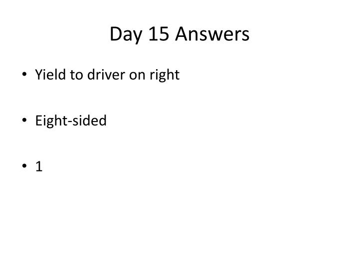 Day 15 Answers