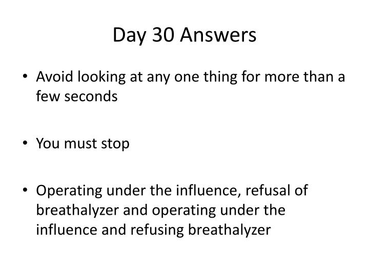 Day 30 Answers
