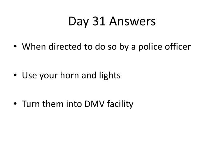 Day 31 Answers