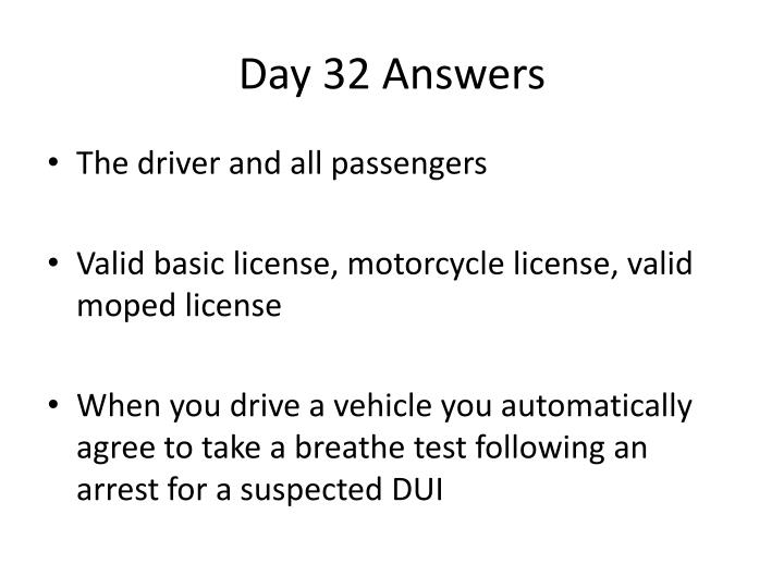 Day 32 Answers