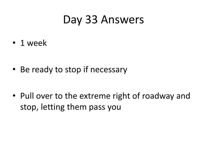 Day 33 Answers
