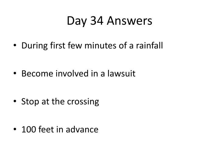 Day 34 Answers