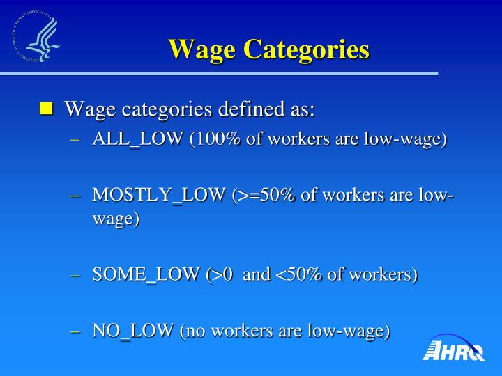 Wage Categories