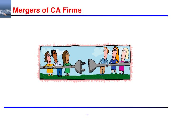 Mergers of CA Firms