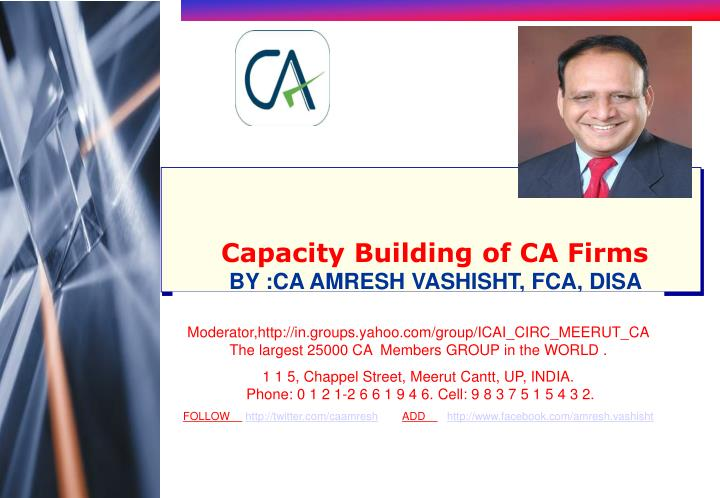 Capacity Building of CA Firms