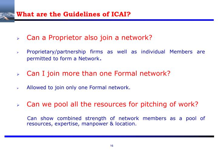 What are the Guidelines of ICAI?