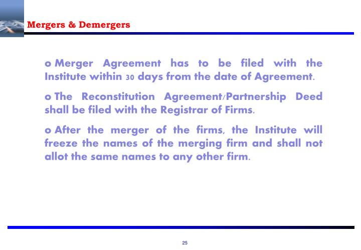 Mergers & Demergers