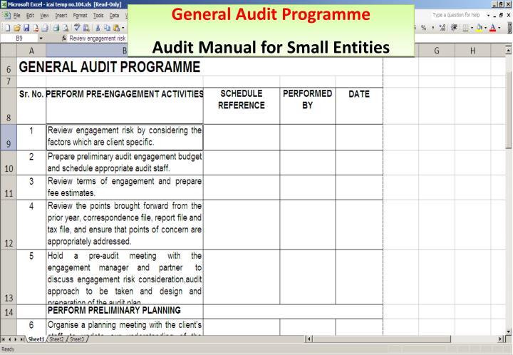 General Audit Programme