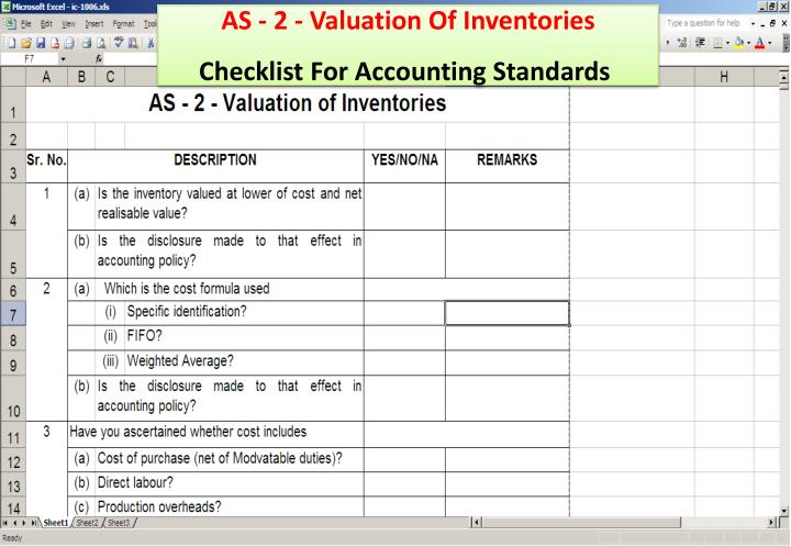 AS - 2 - Valuation Of Inventories