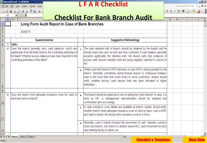 L F A R Checklist