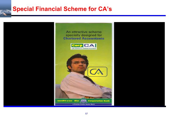 Special Financial Scheme for CA's