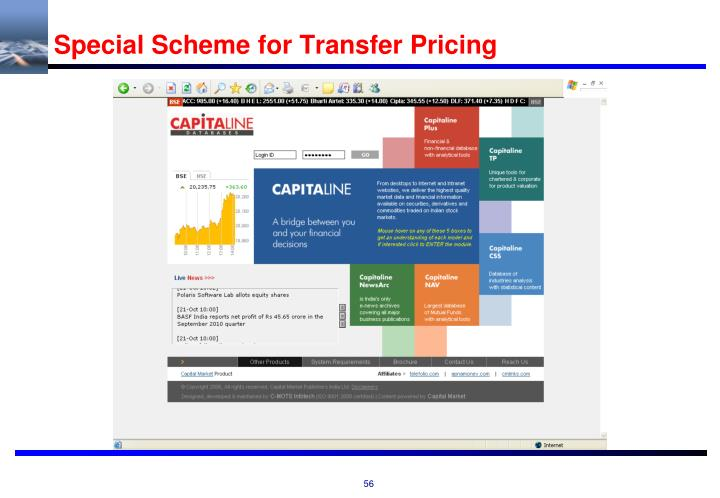 Special Scheme for Transfer Pricing