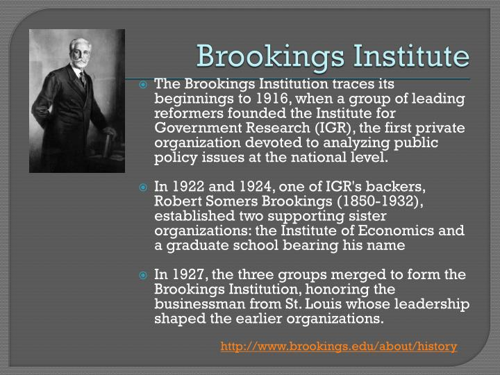 Brookings Institute