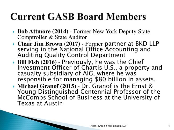 Current GASB Board Members