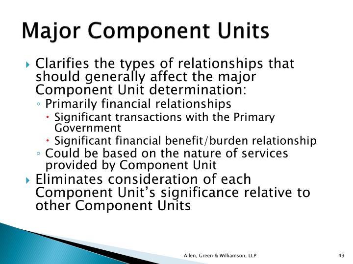 Major Component Units