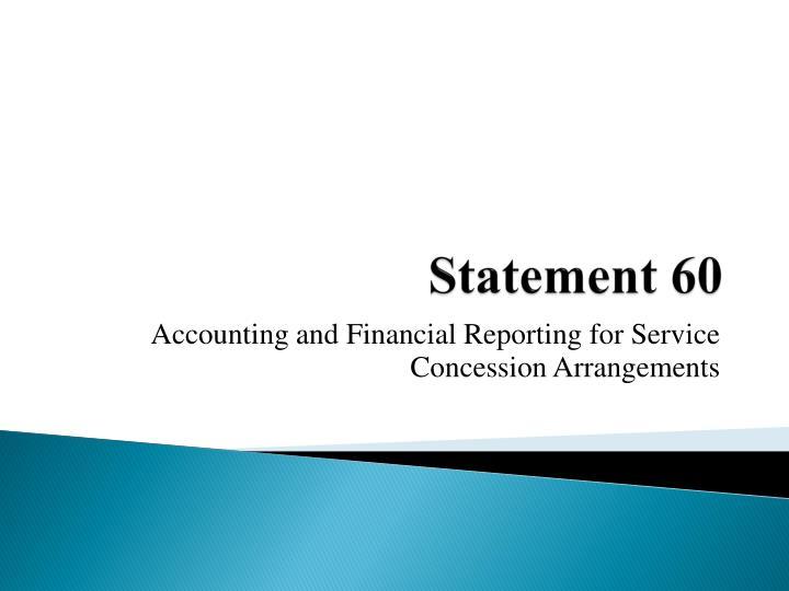 Statement 60
